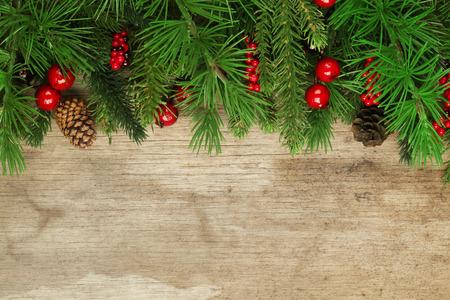 Photo pour Christmas tree branches background - image libre de droit