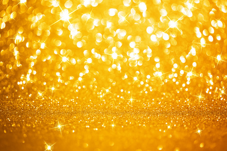 Photo pour Golden lights background - image libre de droit