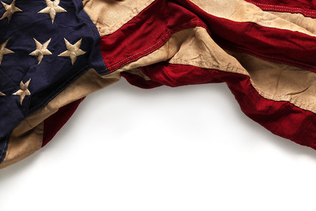 Photo pour Old American flag background for Memorial Day or 4th of July - image libre de droit