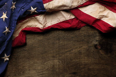 Photo for Old American flag background for Memorial Day or 4th of July - Royalty Free Image