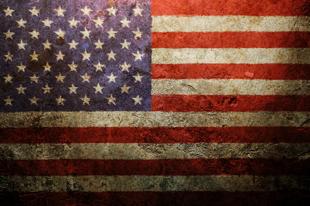 Photo pour Worn vintage American flag background - image libre de droit