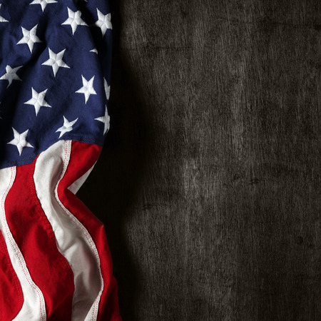 Photo pour American flag for Memorial Day or 4th of July - image libre de droit