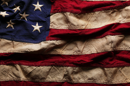 Foto de Old American flag background for Memorial Day or 4th of July - Imagen libre de derechos