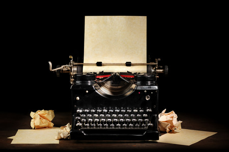 Photo for Old vintage typewriter with blank paper - Royalty Free Image