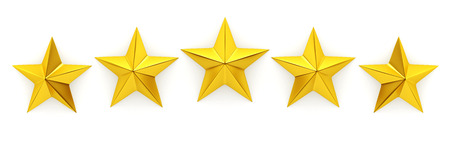 Photo for Five golden stars - 3d rendering - Royalty Free Image