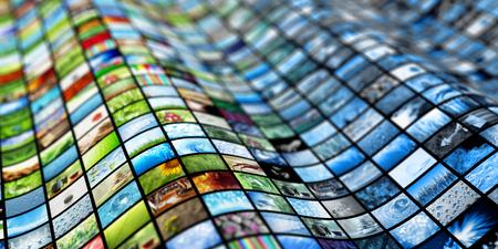 Foto de Giant multimedia video and image wall - Imagen libre de derechos