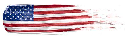 Photo pour Paint smear in the colors of the American Flag - image libre de droit