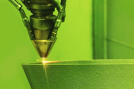 Foto de Laser sintering machine for metal. Metal is sintered under the action of laser into shape. DMLS, SLM, SLS. Modern additive technologies 4.0 industrial revolution - Imagen libre de derechos