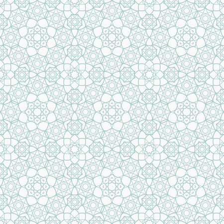 Ilustración de Background with Islamic Seamless Pattern. Vector illustration - Imagen libre de derechos
