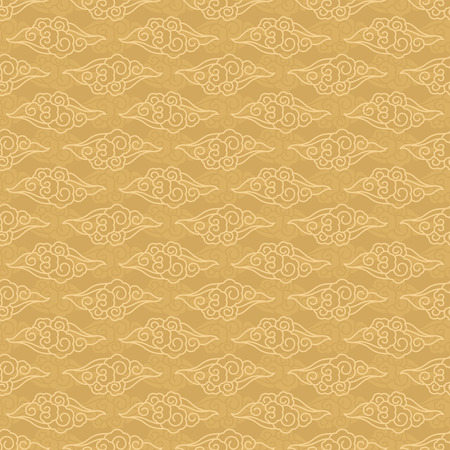 Illustration for Chinese clouds seamless pattern traditional vector background - Royalty Free Image