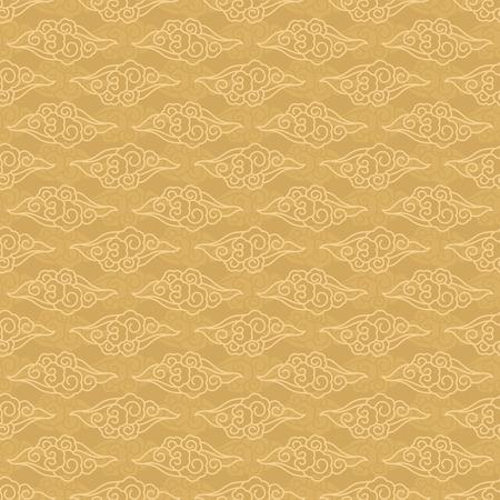Ilustración de Chinese clouds seamless pattern traditional vector background - Imagen libre de derechos