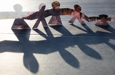 Photo pour turn around of paper figure backround,wallpaper - image libre de droit