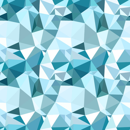Illustration pour Vector trendy low poly seamless pattern. Blue winter polygonal abstract background - image libre de droit