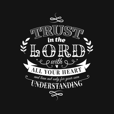 Illustration for Christian proverb lettering vector composition in chalkboard style - Royalty Free Image