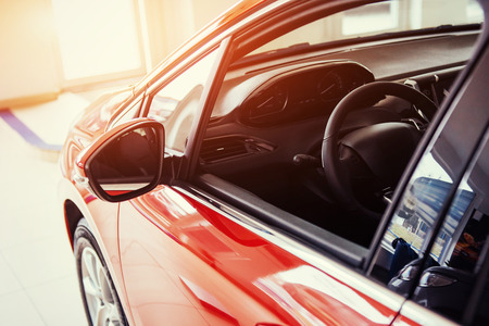 Photo pour of beautiful modern car close up in the cabin - image libre de droit