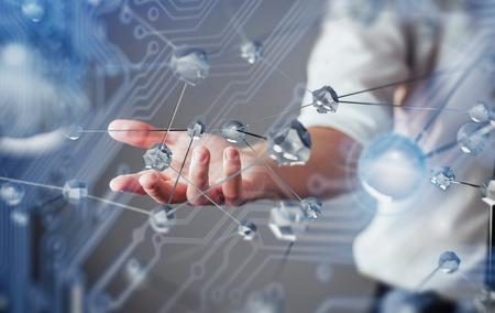 Foto de Innovative technologies in science and medicine. Technology to connect. The concept of security. - Imagen libre de derechos