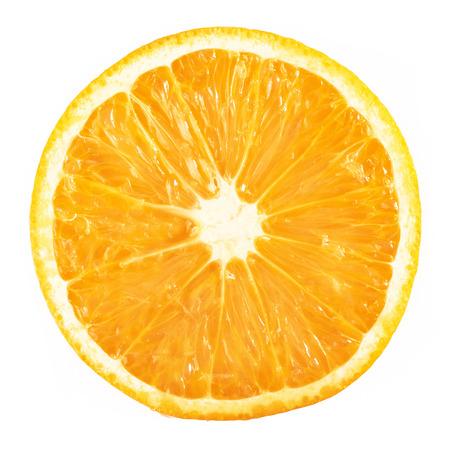 Foto de slice ripe orange citrus fruit isolated on white background - Imagen libre de derechos