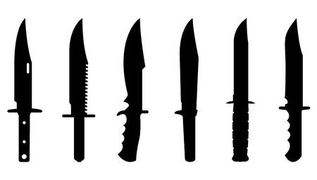 Ilustración de Knives set for design and info graphic - Imagen libre de derechos