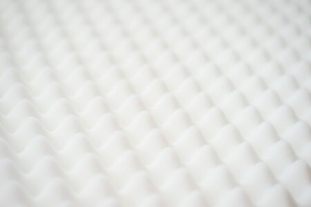 Foto de White gradient abstract background many waves different angles. Extremely soft focus blur foreground and background. Soundproof sound absorbing materials. Biological style, modern technology, bionics. - Imagen libre de derechos