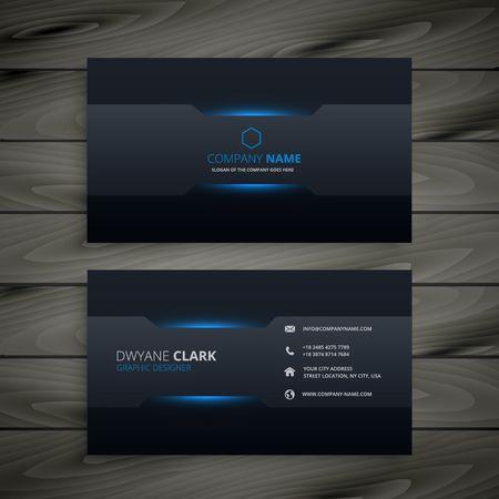 Ilustración de dark business card template - Imagen libre de derechos