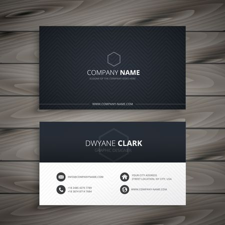 Illustration pour clean dark business card - image libre de droit