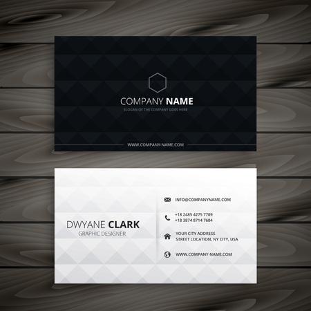 Illustration pour simple black and white diamond business card - image libre de droit