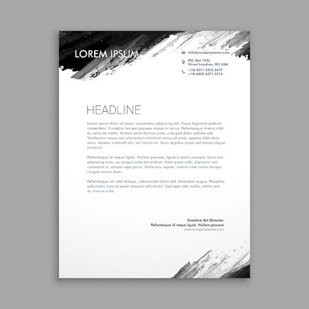 Illustration pour creative black ink letterhead design - image libre de droit