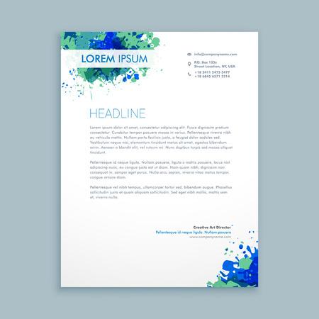 Illustration pour business letterhead abstract design - image libre de droit