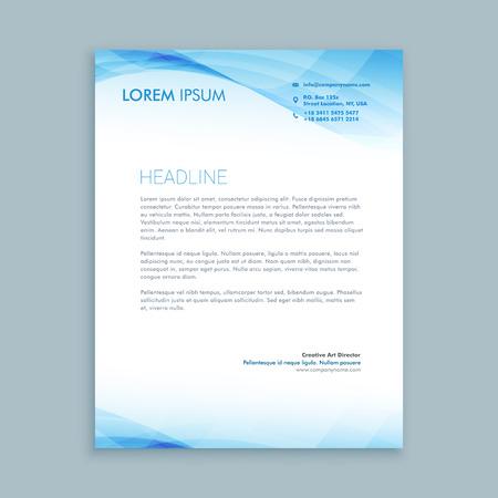 Illustration pour business wave letterhead template - image libre de droit