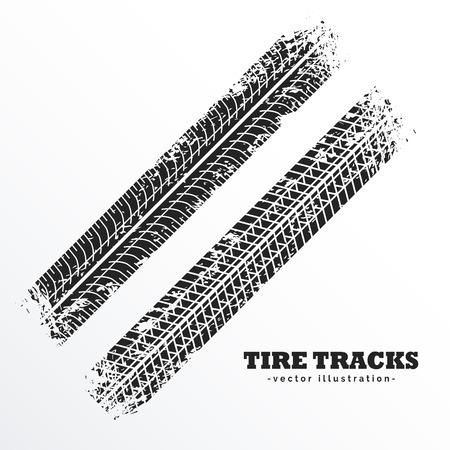 Ilustración de wheel tire tracks background design - Imagen libre de derechos
