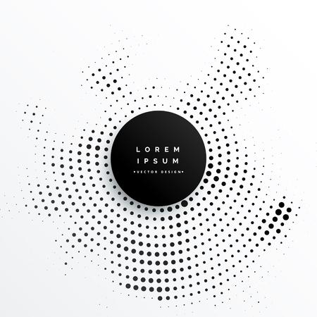 Illustration pour Circular halftone dots background design illustration. - image libre de droit