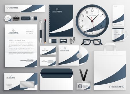 Illustration pour modern clean brand stationery template set - image libre de droit