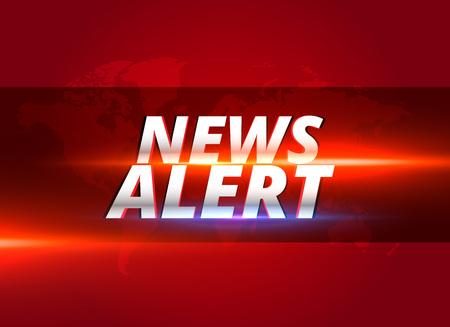 Illustration for news alert concept graphic design for tv news channels - Royalty Free Image