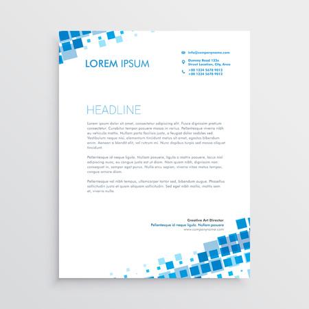 Illustration pour Abstract blue creative letterhead design - image libre de droit