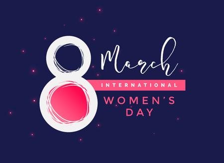 Ilustración de international women's day  vector background - Imagen libre de derechos