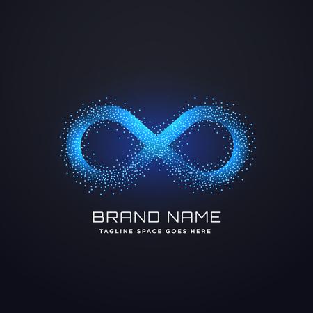 Illustration pour futuristic infinity logo concept design vector - image libre de droit