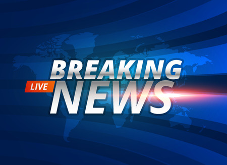 Illustration for Breaking news live background concept - Royalty Free Image