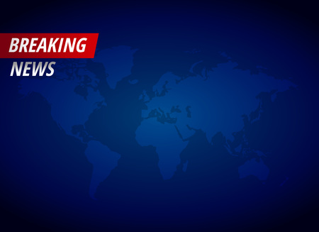 Illustration for Breaking news background with text space - Royalty Free Image