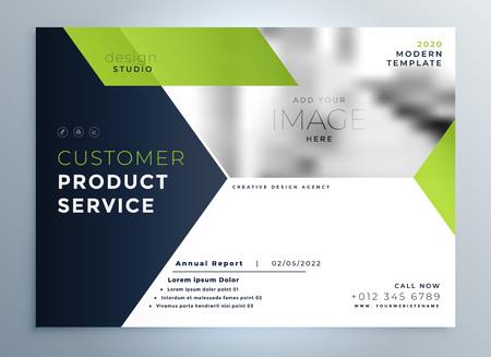 Illustration pour creative green modern brochure flyer template presentation - image libre de droit