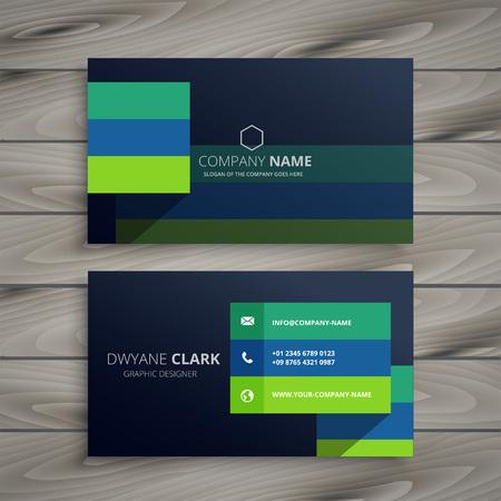 Illustration pour modern dark professional business card design - image libre de droit