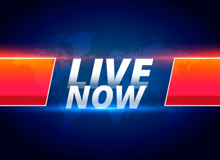 Illustration for live now streaming news background - Royalty Free Image