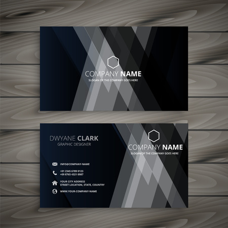 Ilustración de dark abstract creative business card - Imagen libre de derechos