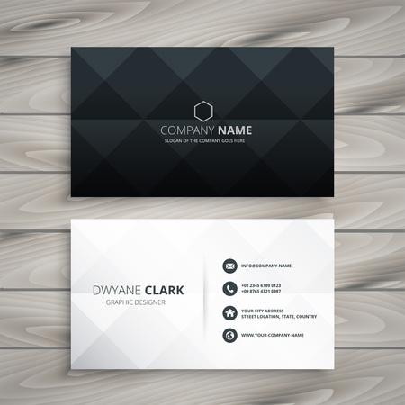 Illustration pour modern black and white business card design - image libre de droit
