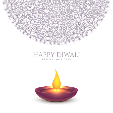 Illustrazione per happy diwali beautiful background design - Immagini Royalty Free