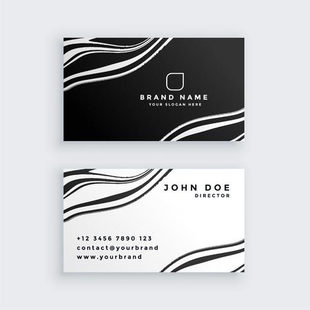 Illustration pour black and white marble business card design - image libre de droit