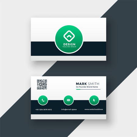 Illustration pour modern stylish company business card template - image libre de droit