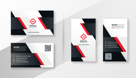 Illustration pour red company business card design - image libre de droit