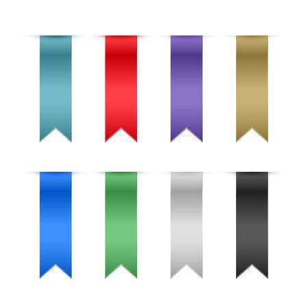 Illustration pour set of ribbons design elements - image libre de droit