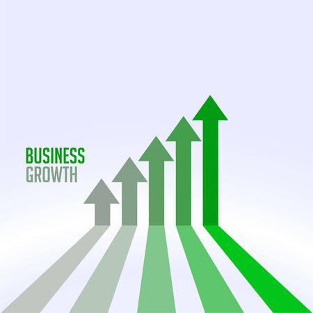 Illustration pour business success and growth chart arrow concept - image libre de droit