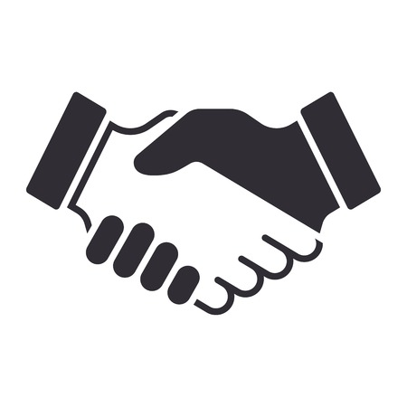 Illustration pour Handshake icon. Partnership and agreement symbol - image libre de droit